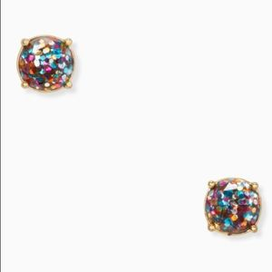 Kate Spade ♠️ NWT Glitter Gumdrop Stud Earrings